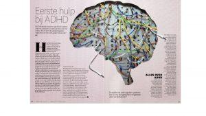 pagina 1 en 2 van het interview met Eveline Roux over ADHD bij vrouwen in Women's Health.