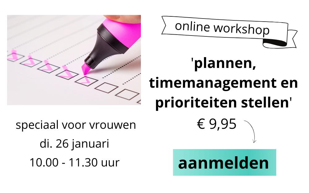 adhd workshop online plannen