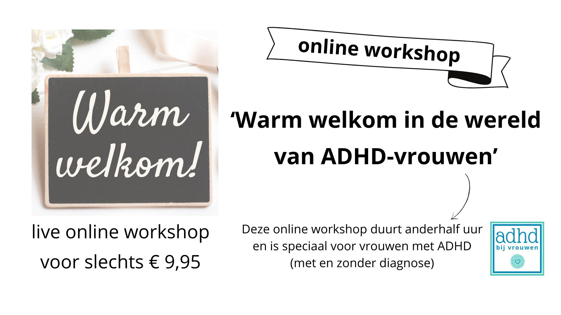 workshop adhd bij vrouwen